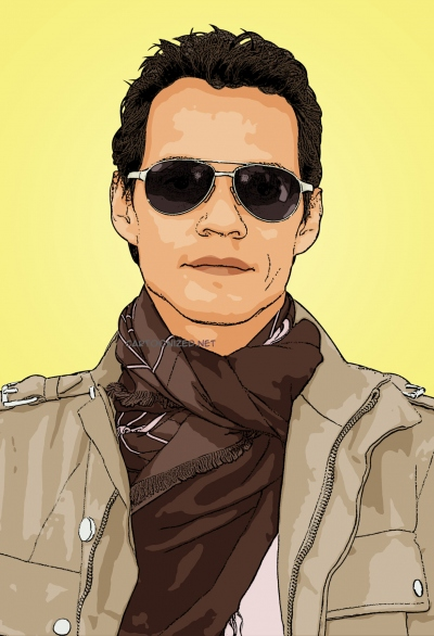 Photo cartoon of Marc Anthony