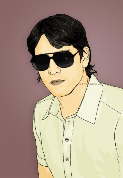 cartoon photo of marco borriello by cartoonized.net