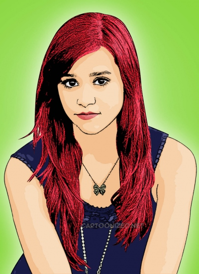 Cartoon photo of Megan Nicole