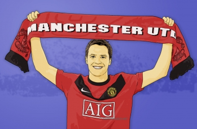 Photo Cartoon of Michael Owen
