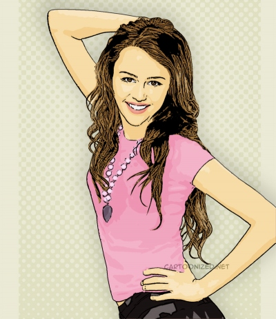Photo Cartoon of Miley Cyrus