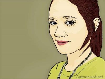 Photo Cartoon of Mulan Jameela