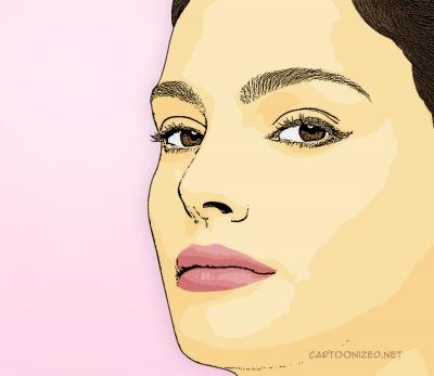 Photo Cartoon of Natalie Portman