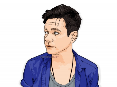 cartoon photo of Nate Ruess
