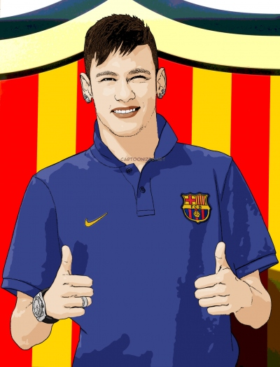 Cartoon photo of Neymar