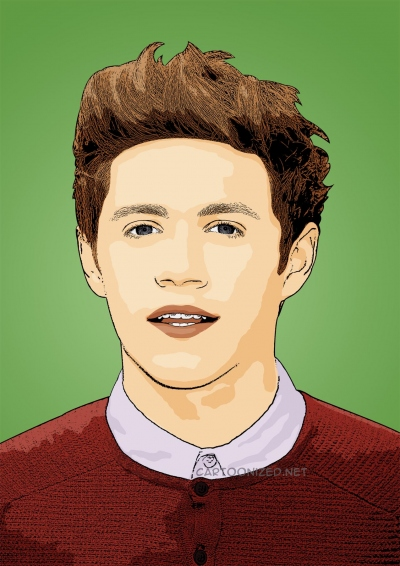 cartoon photo of Niall Horan