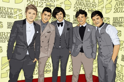 cartoon photo of one direction by cartoonized.net