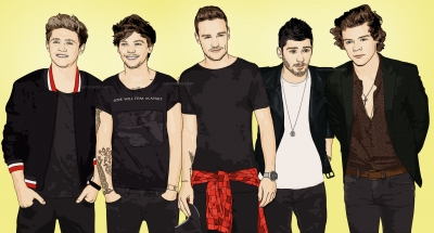 Photo cartoon of One Direction by cartoonized.net