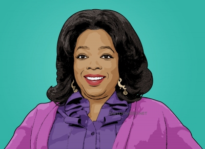 Photo cartoon of Oprah Winfrey