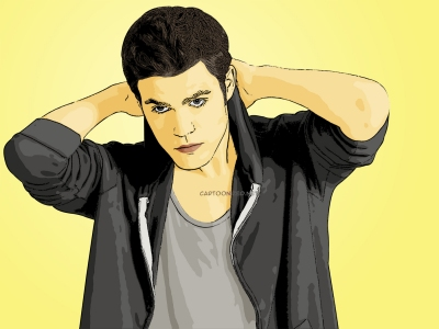 cartoon photo of paul wesley by cartoonized.net