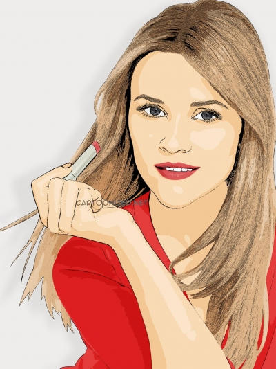 cartoon photo of Reese Witherspoon