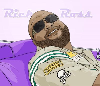 cartoon photo of Rick Ross