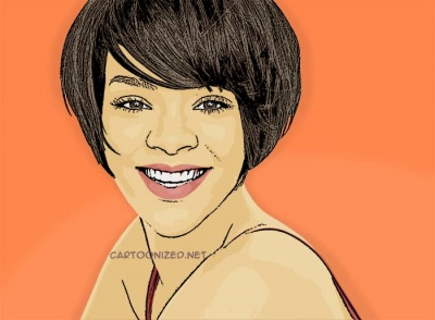 Photo Cartoon of Rihanna