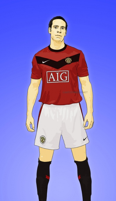 Photo Cartoon of Rio Ferdinand