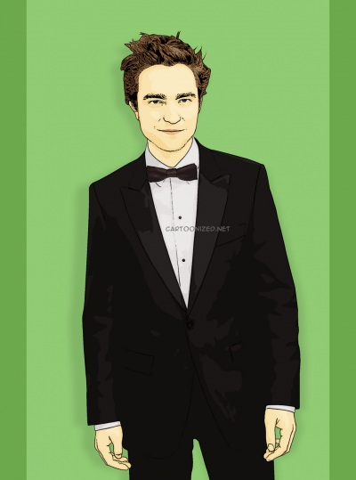 Photo Cartoon of Robert Pattinson