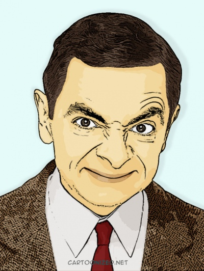 Photo Cartoon of Rowan Atkinson