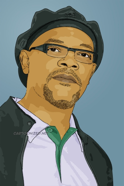 cartoon photo of samuel jackson by cartoonized.net