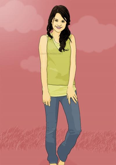 Photo Cartoon of Selena Gomez