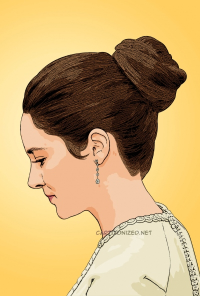 cartoon photo of Shailene Woodley