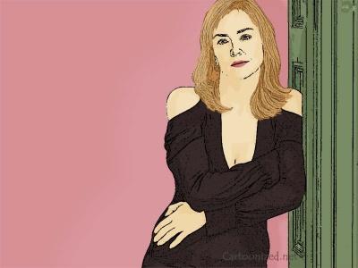Photo Cartoon of Sharon Stone