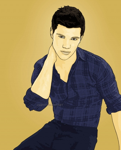 Photo Cartoon of Taylor Lautner