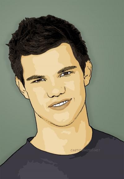 Photo Cartoon of Taylor Lautner