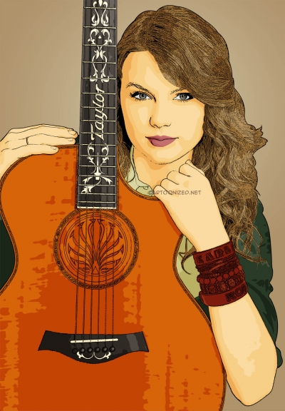 cartoon photo of taylor swift by cartoonized.net