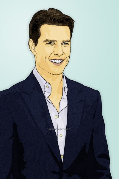 Photo Cartoon of Tom Cruise