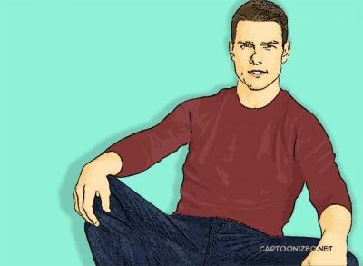 Photo Cartoon of Tom Cruise