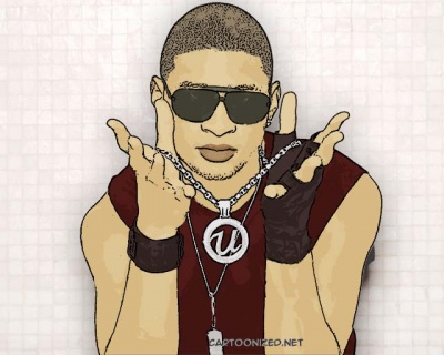 Photo Cartoon of Usher