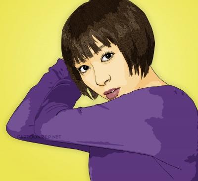 utada hikaru cartoon photo