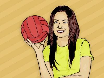 Photo Cartoon of Vicki Zhao