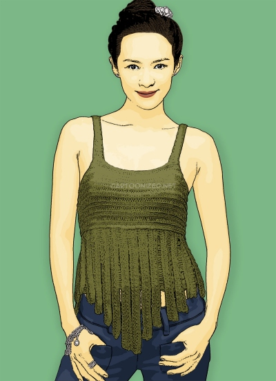 zhang ziyi cartoon photo