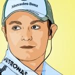Photo cartoon of Nico Rosberg