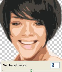 cutout using 5 levels