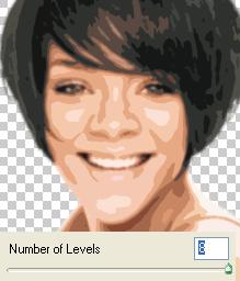 cutout using 8 levels