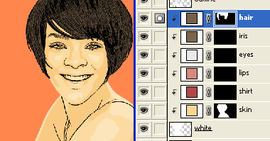 coloring the skin