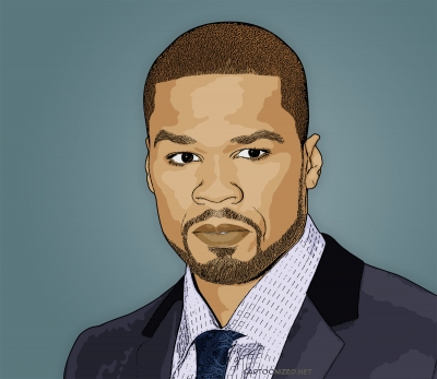 50 cent cartoon photo by cartoonized.net