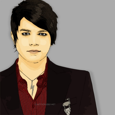 Photo Cartoon of Adam Lambert