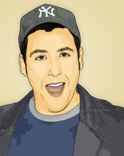 Adam Sandler Photo Cartoon by cartoonized.net