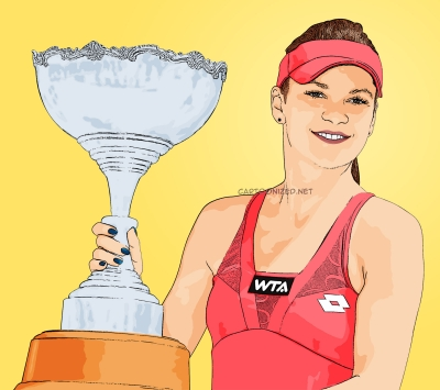 Photo Cartoon of Agnieszka Radwanska
