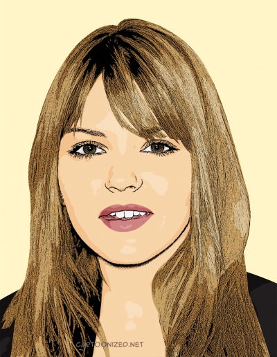cartoon photo of Aimee Teegarden