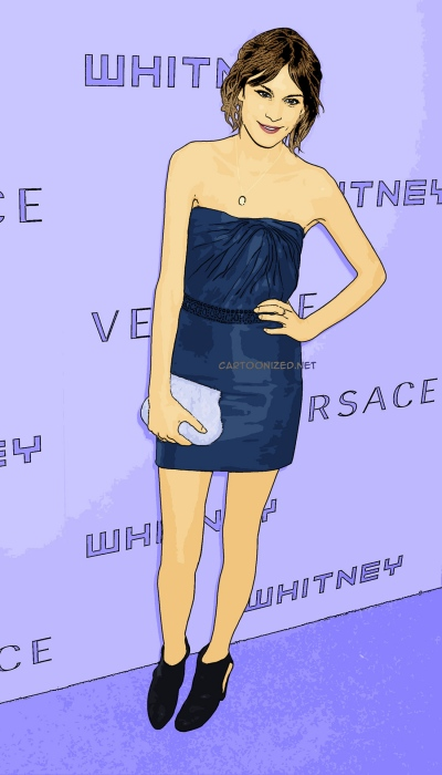 Photo Cartoon of Alexa Chung