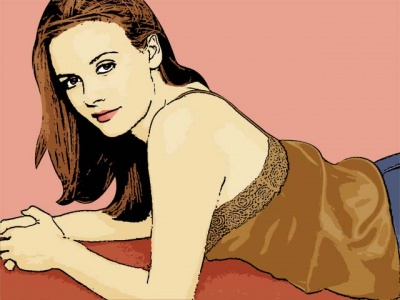 Photo Cartoon of Alicia Silverstone