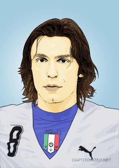 Photo Cartoon of Andrea Pirlo