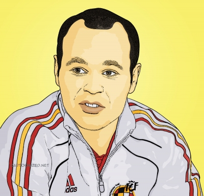 Photo Cartoon of andres iniesta by cartoonized.net