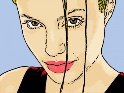 Photo Cartoon of Angelina Jolie