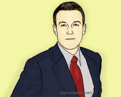 Photo Cartoon of Ben Affleck