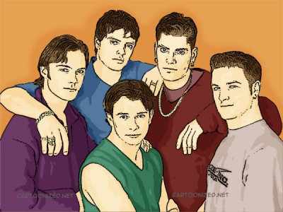 Photo Cartoon of Boyzone