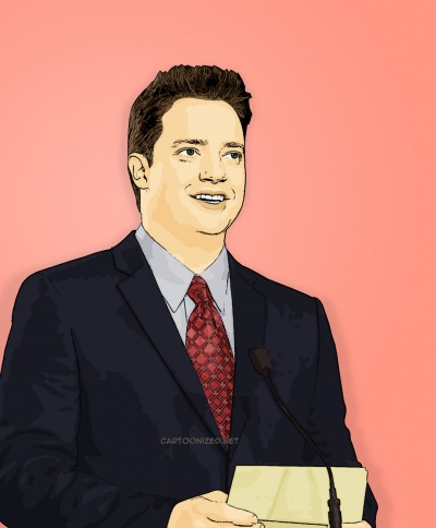 Photo Cartoon of Brendan Fraser
